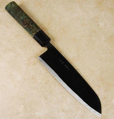 Ishikawa White #2 Black Santoku 190mm Custom