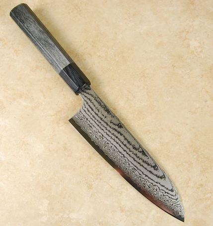 Kanjo VG10 Black Damascus Santoku 180mm