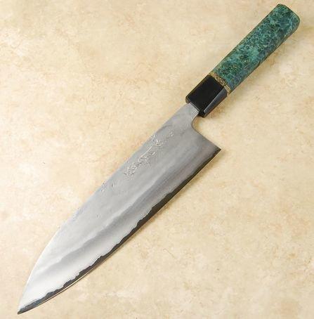 Matsubara Blue #2 Nashiji Gyuto 210mm