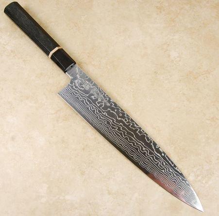 Sukenari ZDP189 Damascus Gyuto 270mm Bog Oak