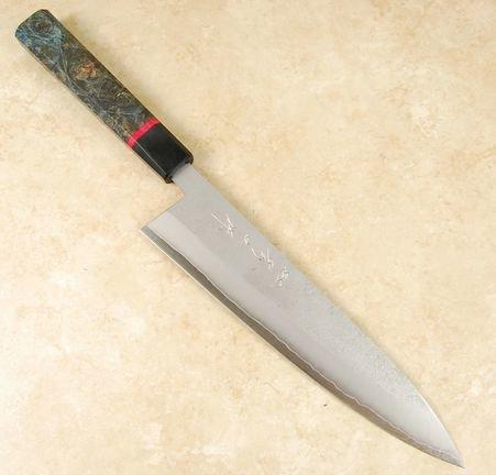 Tanaka Blue #2 Nashiji Gyuto 240mm