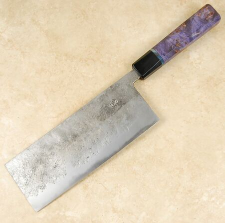 Tsubaki Kori Blue #2 Small Cleaver/ Tall Nakiri 190mm
