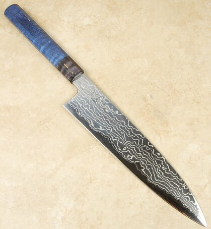 Sukenari Custom AS Damascus Gyuto 240mm