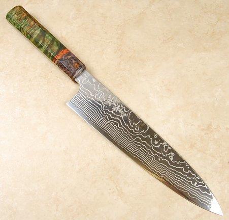 Sukenari ZDP189 Damascus Gyuto 240mm