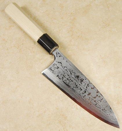 Yauji White #2 Damascus Deba 165mm