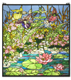 Woodland LilyPond Stained Glass Window