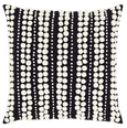 Omni Embroidered Black Ivory Decorative Pillow