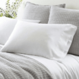 Silken Solid White Pillowcases