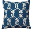 Nautical Rope Indoor Pillow in Navy<font color=a8bb35> Low Stock</font>