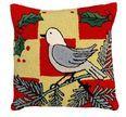 White Bird Christmas Pillow