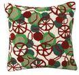 Peppermint Disco Christmas Pillow