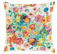 Flower Shower Embroidered Decorative Pillow