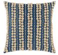 Omni Embroidered Denim Natural Decorative Pillow