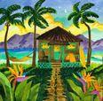 Tropical Twilight Beach Print