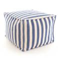 Trimaran Stripe Denim/Ivory Indoor/Outdoor Pouf 20% OFF
