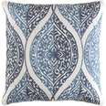 Regina Embroidered Pillow Blue Denim<font color=a8bb35> Limited Stock</font>