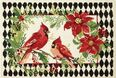 Harlequin Cardinal Indoor Christmas Doormat