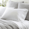 Silken Solid White Pillowcases