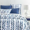 Blue Brush Duvet Cover