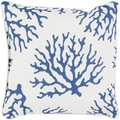 Coral Outdoor Pillow in Cobalt