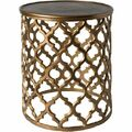 Hammett Accent Side Table - Gold