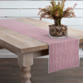 Harmony Ribbed Red Table Runner