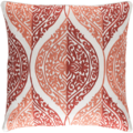 Regina Embroidered Pillow Coral<font color=a8bb35> Limited Stock</font>
