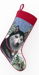 Siberian Husky Christmas Stocking<font color =a8bb35> Sold out</font>