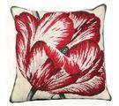 Large Tulip Needlepoint Pillow