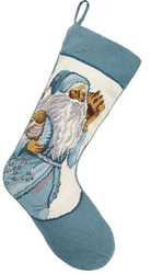 Santa With Shells Christmas Stocking<font color =a8bb35> Sold out</font>