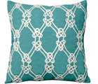 Nautical Rope Indoor Pillow in Turquoise