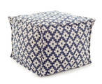 Samode Navy/Ivory Indoor/outdoor Pouf 20% OFF