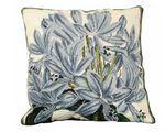 Agapanthus Needlepoint Pillow