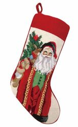Santa and Teddy Christmas Stocking<font color =a8bb35> Sold out</font>