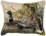 Mallard Needlepoint Pillow