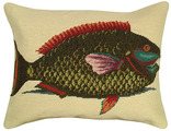 Parrot Fish Needlepoint Pillow