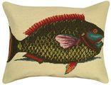 Parrot Fish Needlepoint Pillow