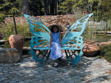 Metal Butterfly Bench - Large