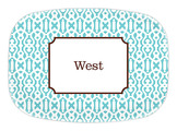Cameron Teal Melamine Platter<font color=a8bb35> NEW</font>