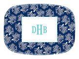 Coral Navy Melamine Platter<font color=a8bb35> NEW</font>