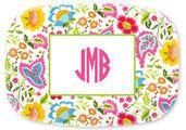 Bright Floral Melamine Platter