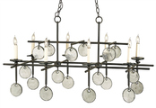 Sethos Rectangular Chandelier in Two Finishes
