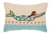 Mermaid Brunette Hook Pillow