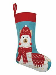 Christmas Llama Felt Stocking<font color =a8bb35> Sold out</font>