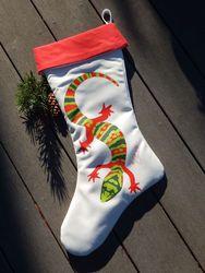 Handmade Gecko Stocking