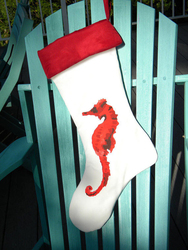 Red Seahorse Stocking