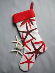Red Starfish Stocking