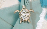 Sea Turtle Napkin Rings Set of 4