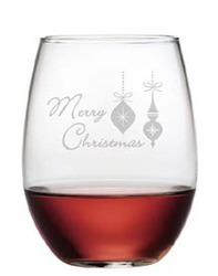 Merry Christmas Set of 4 Glasses - Many Glass Options