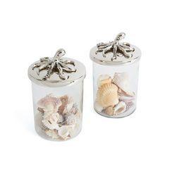 Pair of Octopus Jars